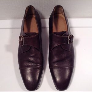 Giorgio Armani Brown Leather Dress Shoes Size 7.5